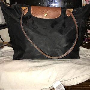 Black LongChamp Tote Bag